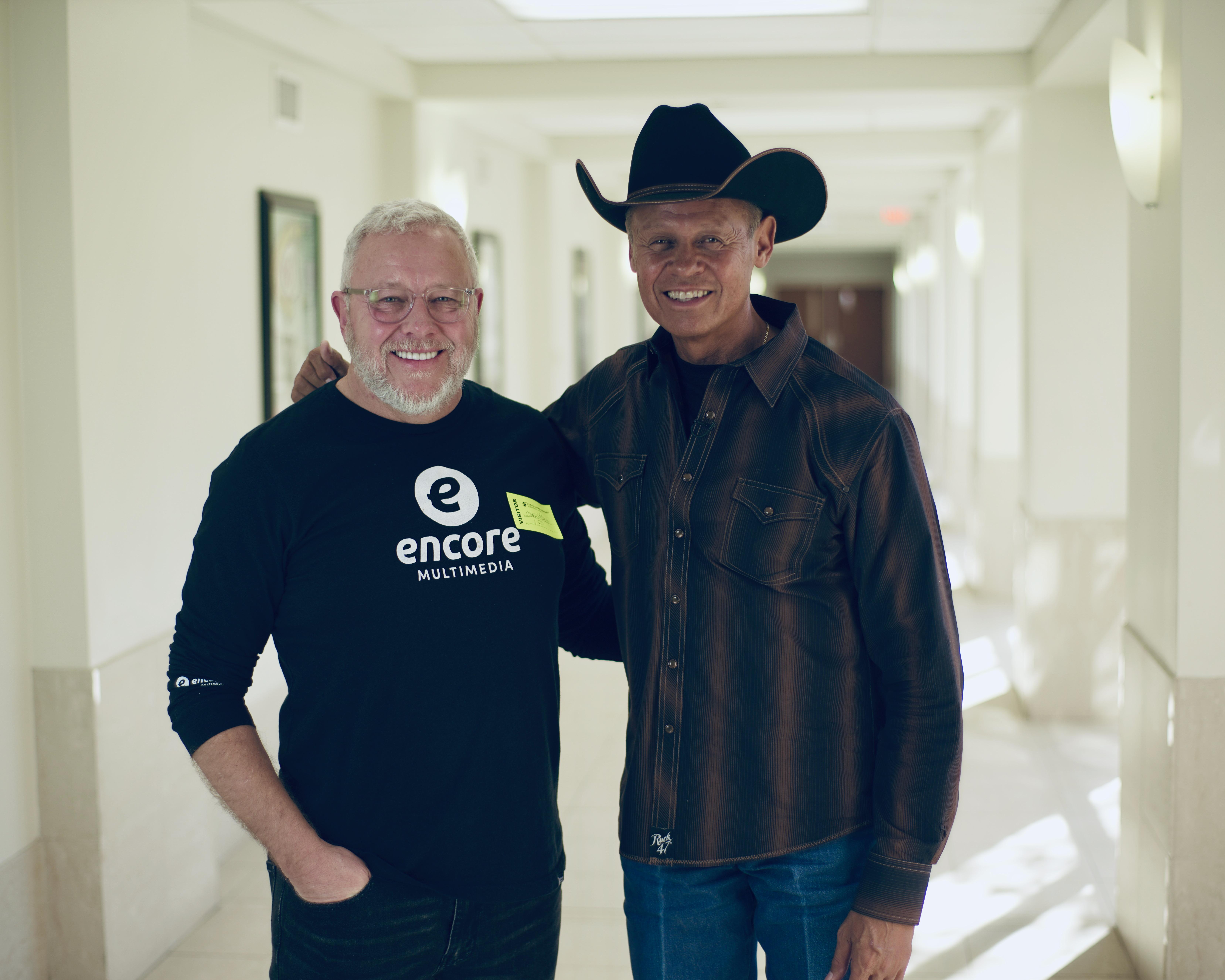 Encore President Dean Waskowiak with Neal McCoy
