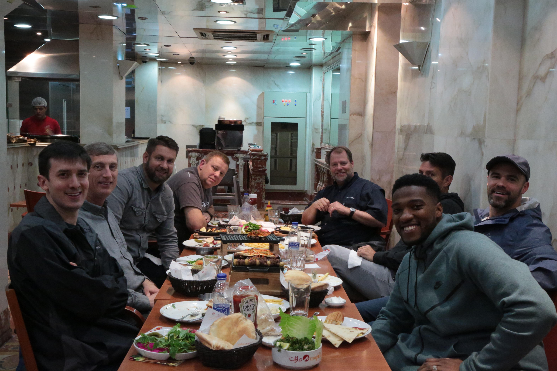 Dean at dinner in Lebanon