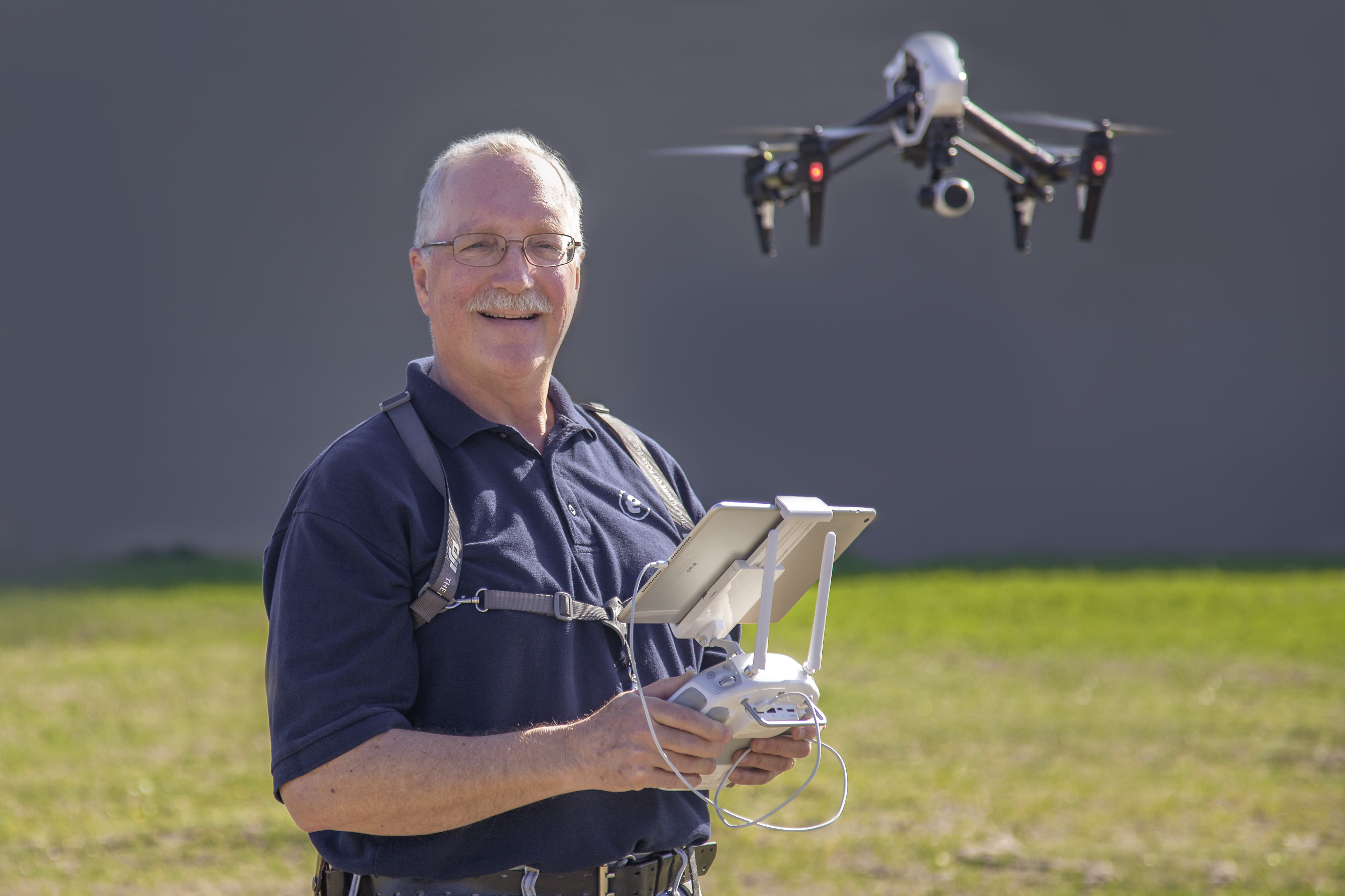 Dave Stanton with Drone