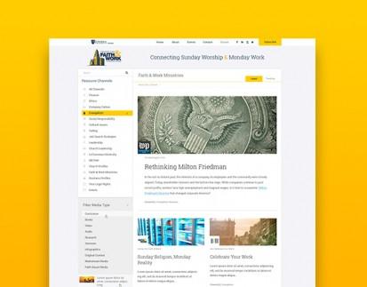 CFW website desktop layout