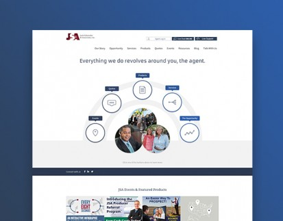 Desktop view of JSA website